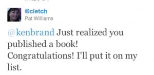 Cletch tweet to Ken Brand