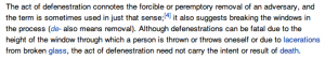 Wikipedia Definition of Defenestration