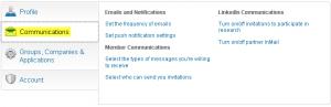 LinkedIn Communication