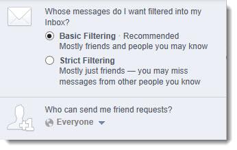 Facebook - Who can contact me