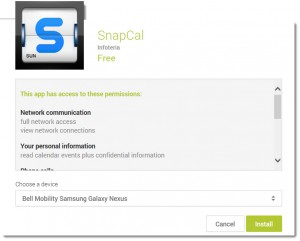 SnapCal App Permissions