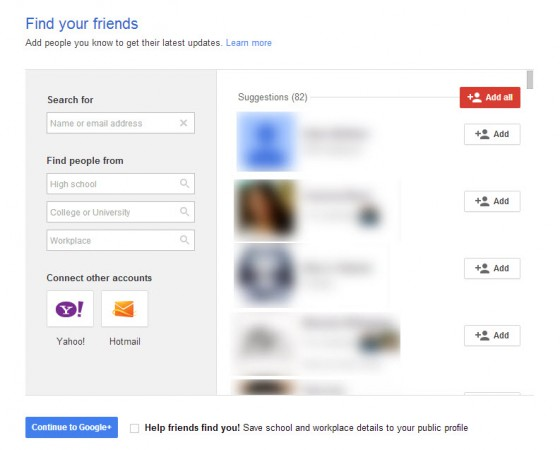 How to Find your friends on Google+