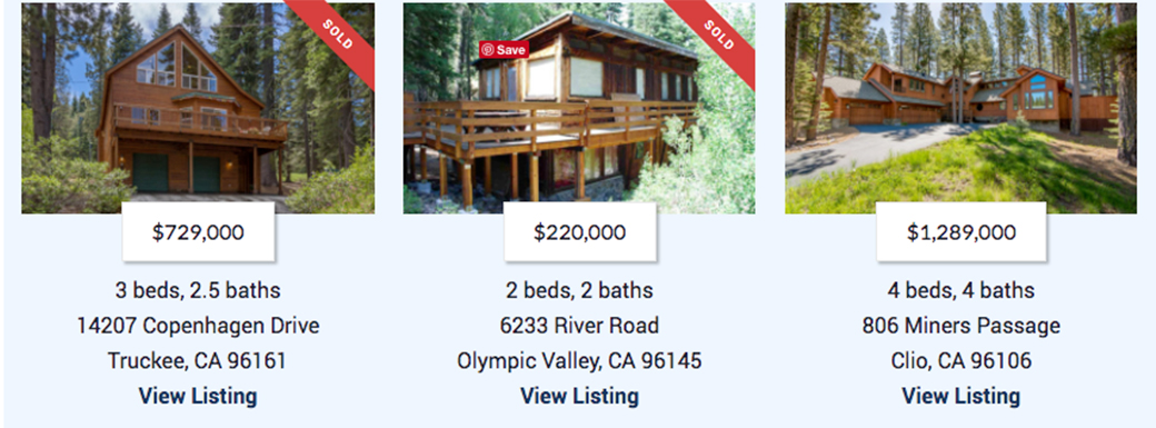Tahoe real estate websites