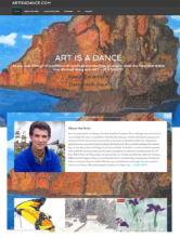 Artist website sample 1