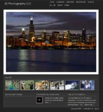 Artist website sample 2
