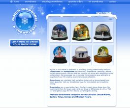 Custom-snowdomes.com before CyberCletch Redesign