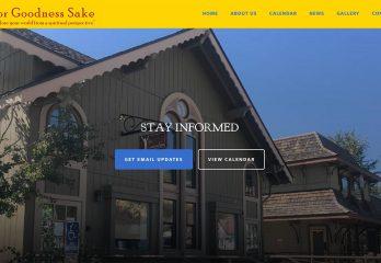 For Goodness Sake Website Redesign